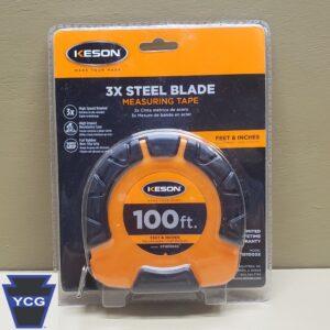 Certified 100ft Steel Tape